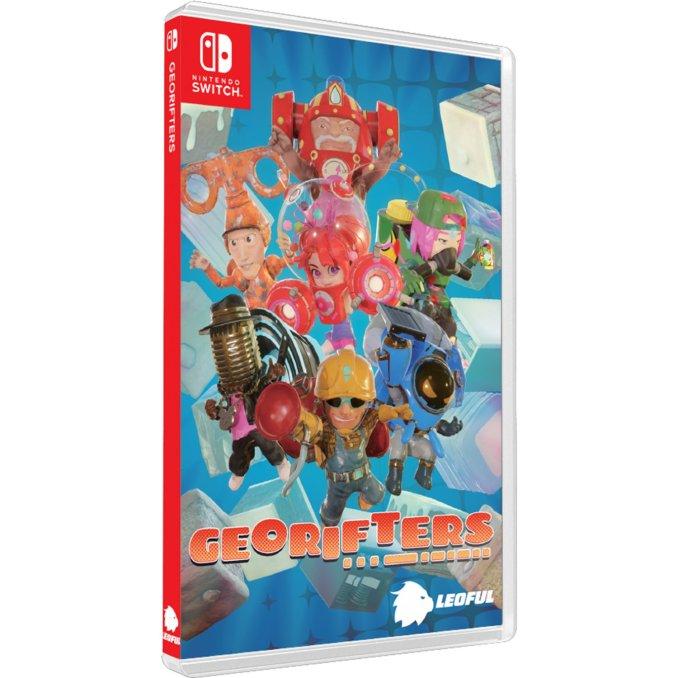 """Das Bild zeigt das Boxart des Spieles """"Georifters""""."""