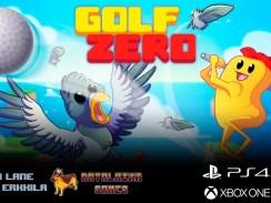 """Das Bild zeigt das Logo des Spieles """"Golf Zerso""""."""