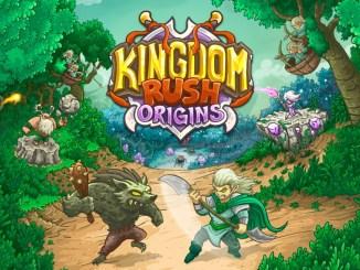 """Das Bild zeigt das Logo des Spieles """"Kingdom Rush Origins""""."""