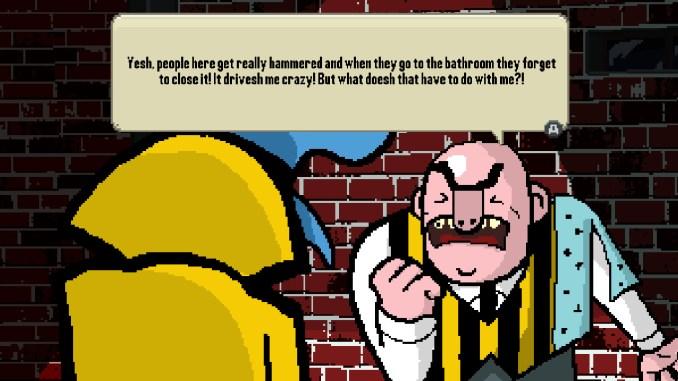 """Das Bild zeigt eine Szene aus dem Spiel """"Detective Case and Clown Bot in: Murder in The Hotel Lisbon""""."""