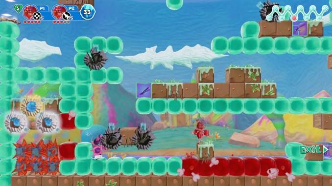 Das Bild zeigt einen lila Würfel, in welchem man Power-ups in den unterschiedlichen Leveln findet.