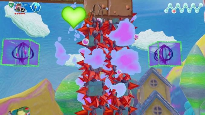 """Das Bild zeigt ein Power up in dem Spiel """"Georifters""""."""