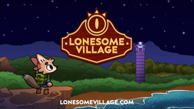 """Das Bild zeigt das Logo von """"Lonesome Village""""."""