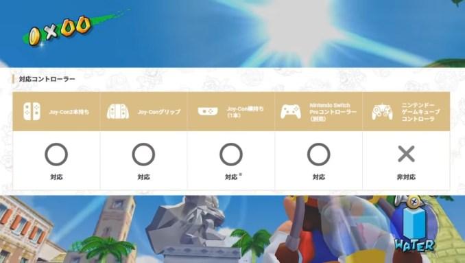 """Das Bild zeigt die unterstützten Steuerungsmöglichkeiten in """"Super Mario 3D All-Stars""""."""