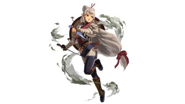 Das Bild zeigt eine junge Impa als Artwork aus Hyrule Warriors: Zeit der Verheerung