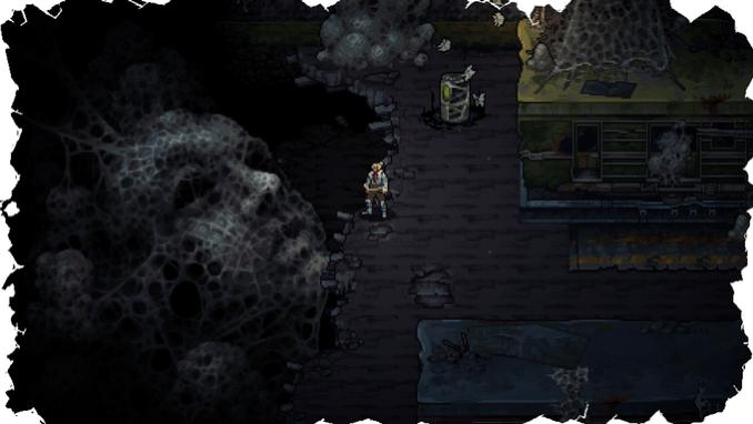 Dieses Bild zeigt den sehr dunklen Teil des Spiels.
