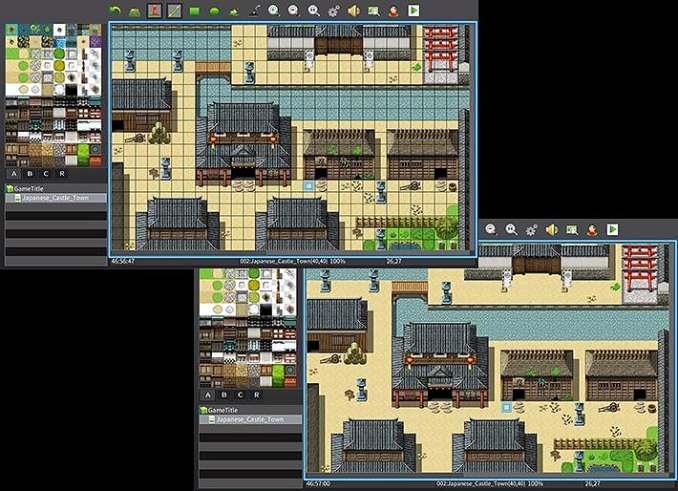 """Das Bild zeigt das Mapping in """"RPG Maker MV""""."""