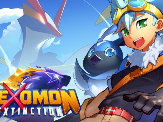 """Das Bild zeigt das Logo von """"Nexomon: Extinction""""."""""""