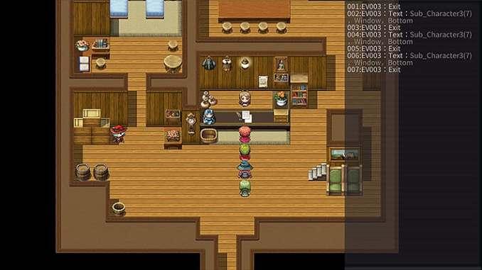 """Das Bild zeigt das Debugging-Feature in """"RPG Maker MV""""."""