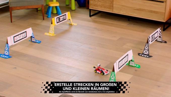 """Das Bild zeigt einen kleinen Kurs, erstellt in """"Mario Kart Live: Home Circuit""""."""