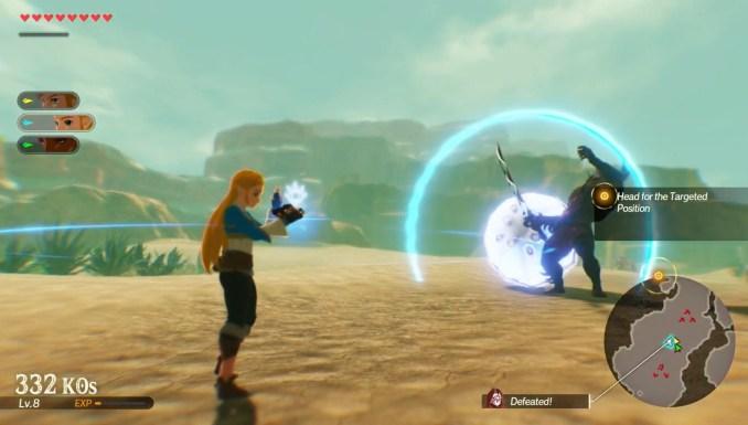Das Bild zeigt Prinzessin Zelda in Sheikah-Action.