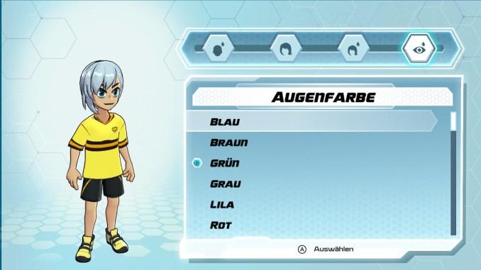 Dieses Bild zeigt den Charakter-Editor aus Bakugan.