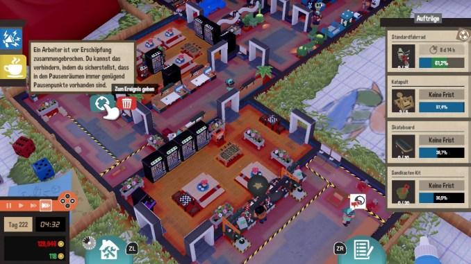 """Das Bild zeigt eine Benachrichtigung aus dem Spiel """"Little Big Workshop""""."""