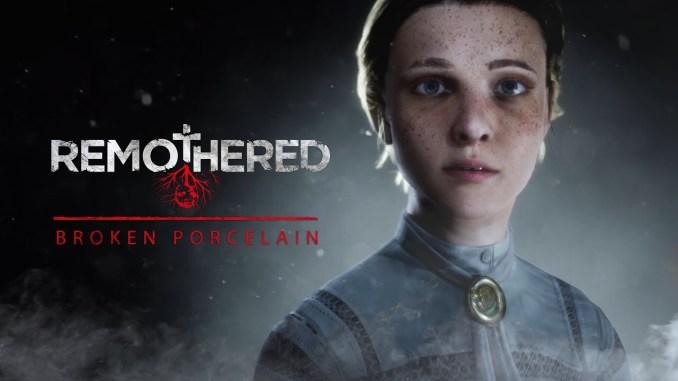 """Das Bild zeigt das Logo des Spieles """"Remothered: Brocken Porelain""""."""