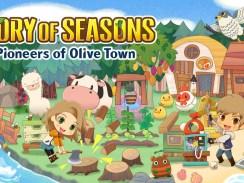 """Das Bild zeigt das Logo von """" STORY OF SEASONS: Pioneers of Olive Town""""."""