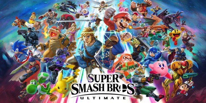 """Das Bild zeigt das Logo des Spieles """"Super Smash Bros. Ultimate"""" zu welchem heute ein Update zur Version 9.0.1 erscheinen wird."""