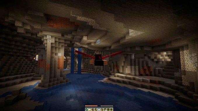 """Das Bild zeigt eine Szene aus dem neusten Update von """"Minecraft: Caves and Cliffs""""."""
