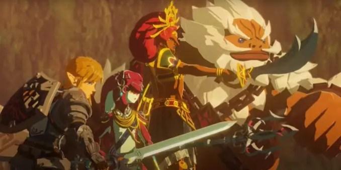 """Das Bild zeigt die Recken in """"Hyrule Warriors: Zeit der Verheerung""""."""