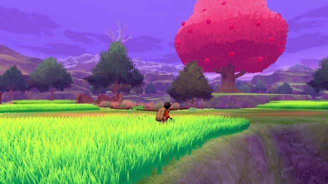 """Das Bild zeigt die Naturzone von Galar in """"Pokémon Schwert/Schild"""" von The Pokémon Company."""