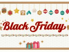 Das Bild zeigt das Black Friday-Logo von Nintendo.