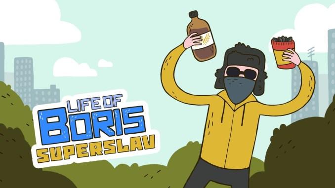 """Das Bild zeigt das Logo von """"Life of Boris: Super Slav""""."""