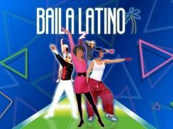 """Das Bild zeigt das Titelbild und das Logo von """" Baila Latino""""."""