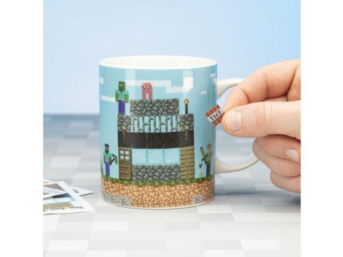 Das Bild zeigt eine Minecraft-Tasse, welche von Lidl vertrieben wird.
