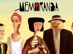 """Das Bild zeigt das Logo von """"Memoranda""""."""