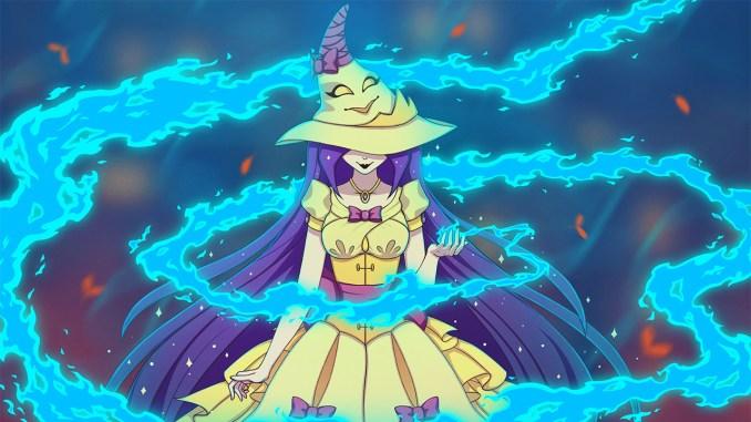 """Das Bild zegt eine Szene aus dem Spiel """" My Aunt is a Witch""""."""