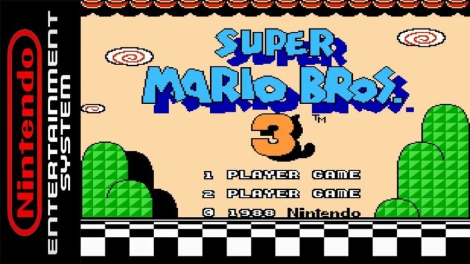 """Das Bild zeigt das Logo von""""Super Mario Bros. 3"""", welches starke Einflüsse auf """"Super Mario Odyssey"""" hatte."""
