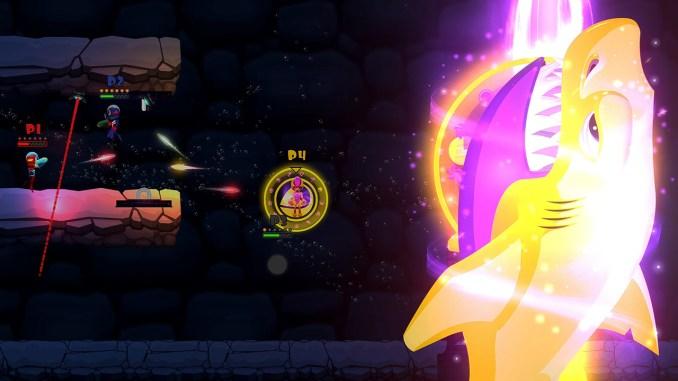 """Das Bild zeigt eine Szene aus dem Spiel """"Swimsanity!""""."""