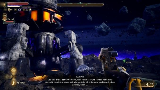 """Das Bild zeigt den Planeten Scylla aus dem Spiel """"The Outer Worlds"""""""