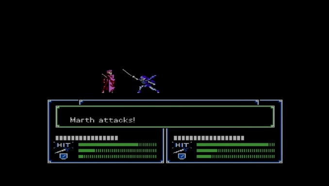 "Das Bild zeigt einen Kampf in ""Fire Emblem: Shadow Dragon & the Blade of Light""."