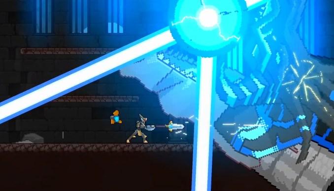 """Das Bild zeigt einen Kampf in """"Metal Unit""""."""
