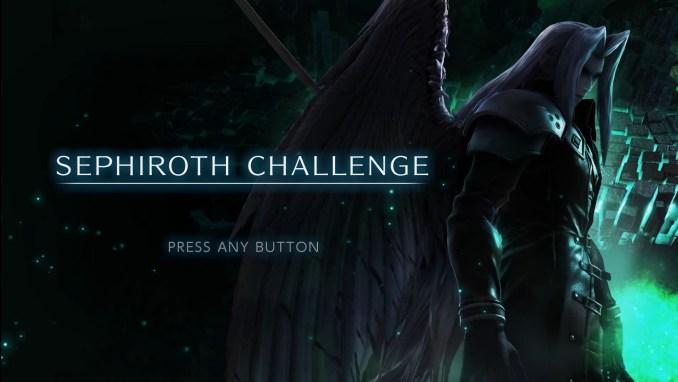 """Das Bild zeigt den Bildschirm der """"Sephiroth-Herausforderung""""."""