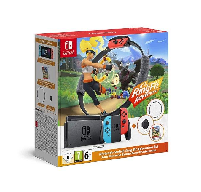 """Das Bild zeigt das """"Nintendo Switch Ring Fit Adventure-Set""""."""