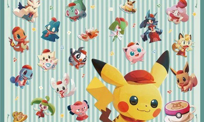 """Das Bild zeigt ein ArtWork zum Thema """"Pokémon Café Mix""""."""