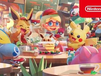 """Das Bild zeigt eine Szene aus dem Spiel """" Pokémon Café Mix""""."""