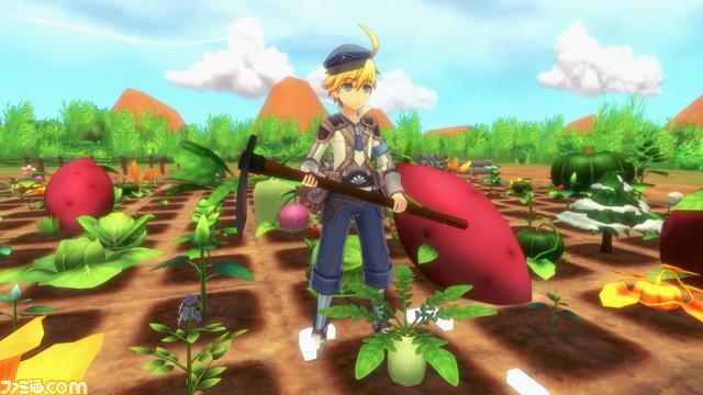 """Das Bild zeigt eine Szene aus dem Spiel """"Rune Factory 5"""". Es handelt sich um einen von vielen Farmsimulatoren."""