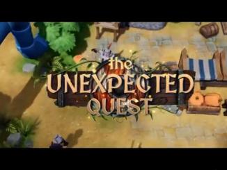 """Das Bild zeigt das Logo von """"The Unexpected Quest""""."""