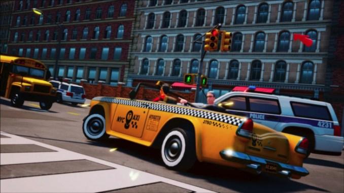 Das Bild zeigt ein Taxi aus Taxi Chaos 2
