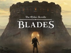 """Das Bild zeigt das Logo von """" The Elder Scrolls: Blades""""."""