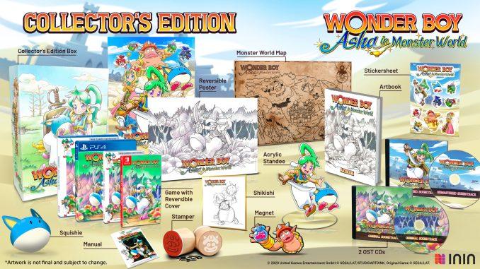 """Das Bild zeigt die Collector's Edition von """"Wonder Boy: Asha in Monster World""""."""