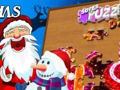 """Das Bild zeigt den Titelscreen von """"#Xmas, Super Puzzles Dream""""."""