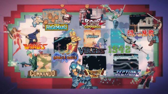 """Das Bild zeigt die Logos einiger Spiele, welche in """"Capcom Arcade Stadium"""" vorkommen werden."""