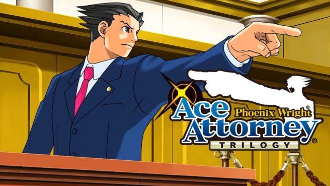 """Das Bild zeigt das Keyartwork von """"Phoenix Wright: Ace Attorney Trilogy""""."""