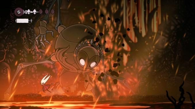 """Das Bild zeigt einen Boss in """"Hollow Knight: Silksong""""."""