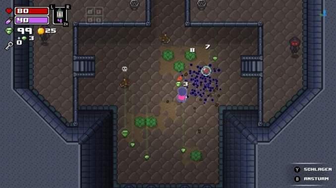 """Das Bild zeigt einen Dungeon mit Gegnern in """"Rogue Heroes: Ruins of Tasos"""""""