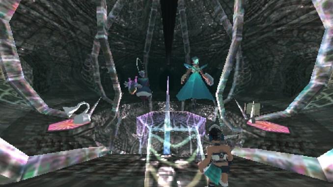 """Das Bild zeigt eine Höhle in der zwei Wesen warten aus dem Spiel """" Anodyne 2: Return to Dust"""""""