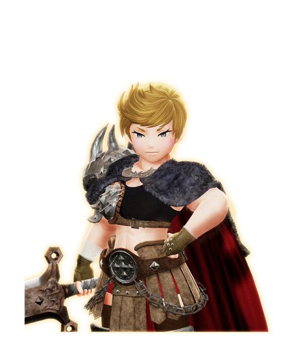 Zu sehen ist Glasy, eine Charakterin aus dem neuen Teil der Bravely Default Reihe